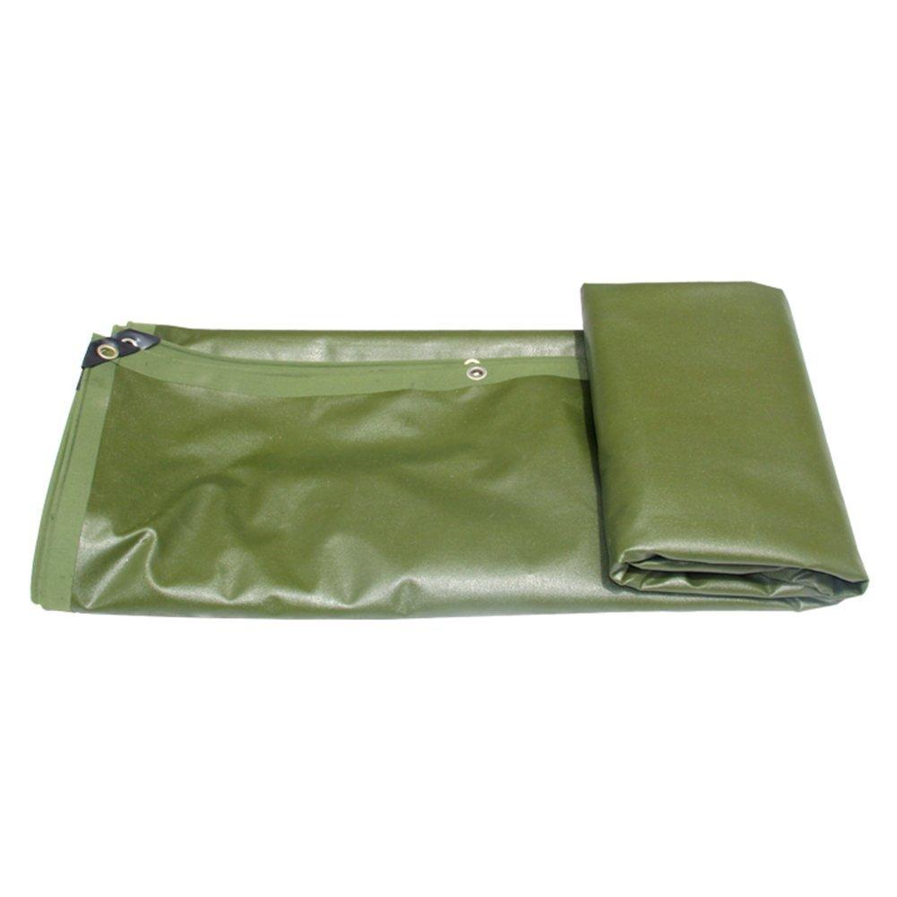 ZHANWEI ターポリンタープ Tarp テント タープ 厚い防水布オーニング 雨篷 厚い 日焼け止め オーニング 防雨布 ポリエステル キャンバス リノリウム トラック 車 屋外 カスタマイズ可能な (色 : Green, サイズ さいず : 2.8x3.8M) 2.8x3.8M Green B07G25P8Q1