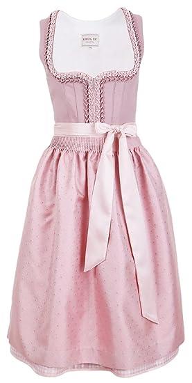 8c4b7f58fd50d3 Krüger Collection Damen Dirndl Rosa - Rosé 70cm - Romantisches Mididirndl:  Amazon.de: Bekleidung