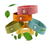 Feihe 5 Pack All Natural Mosquito Repellent Bracelets for Kids, Toddler & Adults - Safe Non Toxic Travel Size Mosquito Bug Repellent Wristband