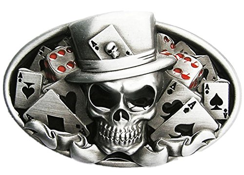 Tattoo Skull Country Music Guitar Belt Buckle Mix Styles Choice Stock in US - Belt Buckles Music Rock