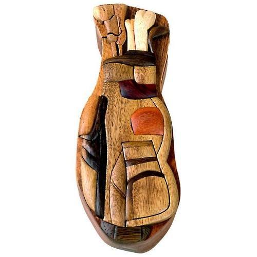 Golf Bag - Secret Wooden Puzzle Box ()