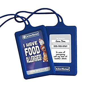 AllerMates Food Allergies Customizable Kids Medical ID Tags Set