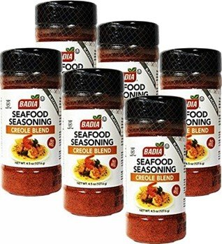 Seafood Seasoning Creole Cajun 4.5 oz Pack of 6 by Badia