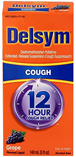 Delsym Adult 12 Hr Cough Relief Liquid, Grape, 5oz (Relief Syrup)