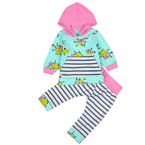 Outfit Flower Hoodies Striped Legging product image