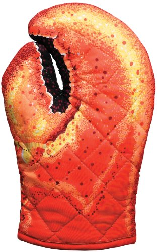 Lobster Claw Oven Mitt, Quilted Cotton, Designed for Light Duty Use, by Boston Warehouse ()