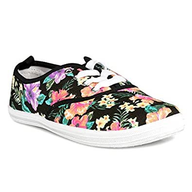 twisted s floral print tennis sneaker