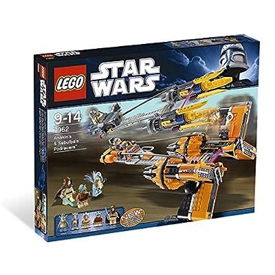 LEGO Star Wars Anakin's & Sebulba's Podracers 7962: Toys & Games