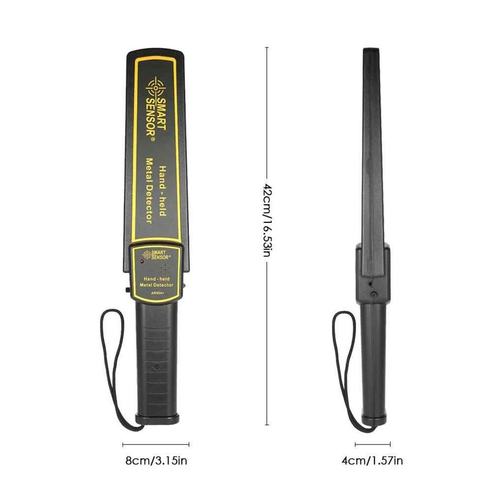 MUANI AR954 + Detector de Metales de Mano Security Check escáner buscador de Oro Cazador de Tesoros Pinpointer Alta sensibilidad del medidor: Amazon.es: ...