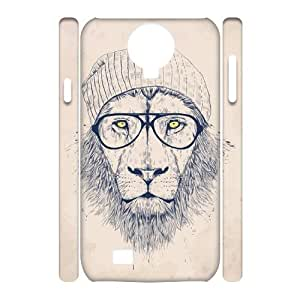 Custom New Case for SamSung Galaxy S4 I9500 3D, Hipster Lion Phone Case - HL-R689650