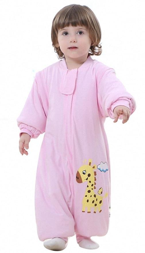 Schlafsack Niño mono bebé niña Baby/Baby Pelele Invierno Algodón recién nacidos – Oso jirafa