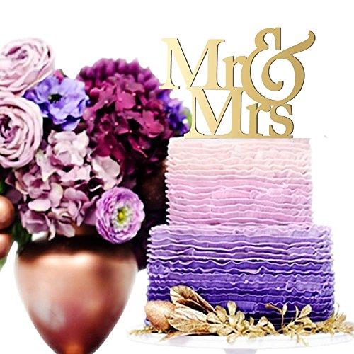 Mr & Mrs Weding Cake Topper Mr & Mrs Sign for Wedding Cake Laser Cut Cake Toppers for Wedding Unique Cake Topper | Mirrored Cake Toppers