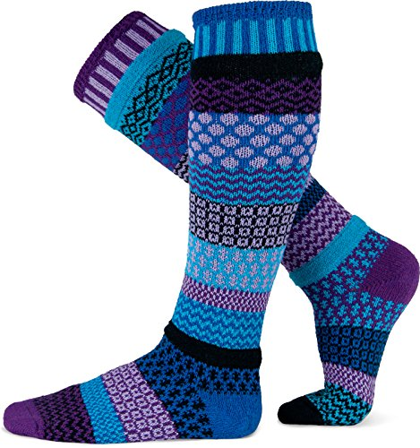 Solmate Socks - Mismatched Knee High Socks, USA Made with Recycled Cotton Yarns made in Vermont