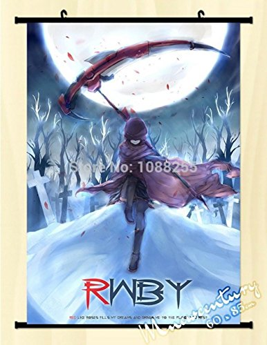 Poster Art Print Wall Scroll Home Decor Rwby Ruby Rose Anime