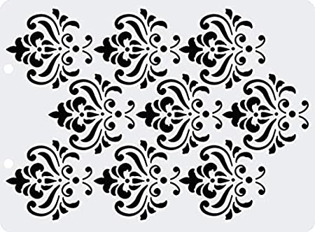 5 x 6.7 inches Stencil Flexible Plastic for Crafts Honeycomb Made in Russia