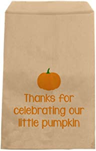 Custom Party Shop Little Pumpkin Favor Bags - Candy Bags - Baby Shower Favors (20 Pack)
