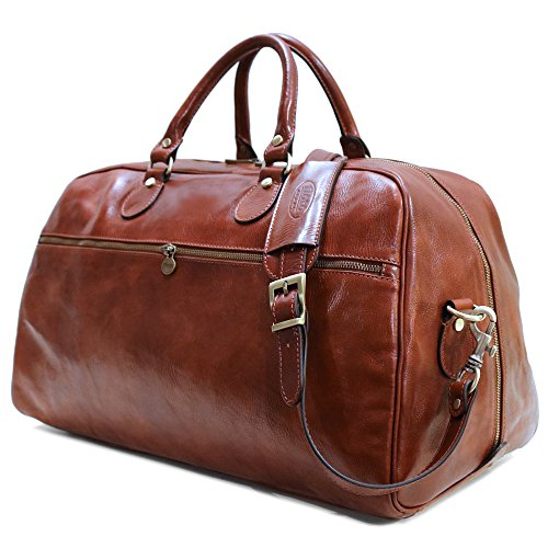 - Floto Collection Sport Duffle in Vecchio Brown Italian Calfskin Leather