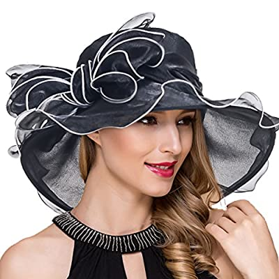 Kentucky Derby Hats for Women Organza Fascinator Church Tea Party Dress Wedding Hat