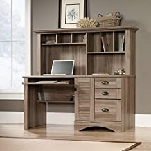 Sauder Harbor View Computer Desk W/Hutch in Salt Oak