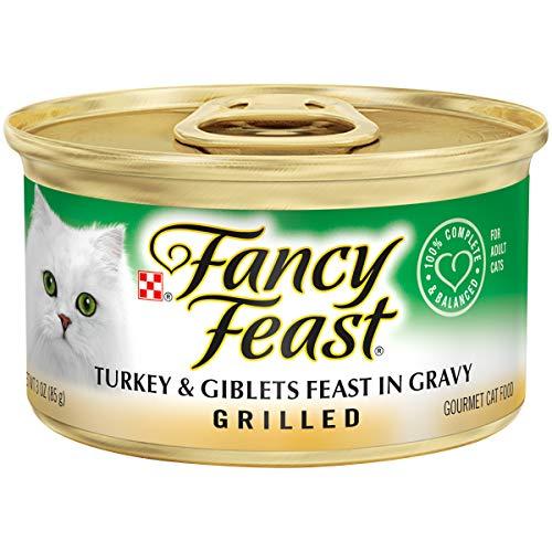 Purina Fancy Feast Gravy Wet Cat Food; Grilled Turkey & Giblets Feast in Gravy - 3 oz. Can