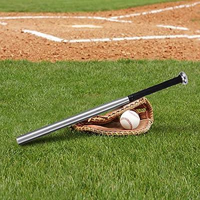 Caretoo Bate de b/éisbol de aleaci/ón de aluminio de color plateado grueso palo de b/éisbol en casa en 21//31 pulgadas