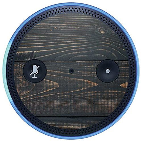 Skinit Wood Amazon Echo Plus Skin - Black Painted Wood Design - Ultra Thin, Lightweight Vinyl Decal Protection