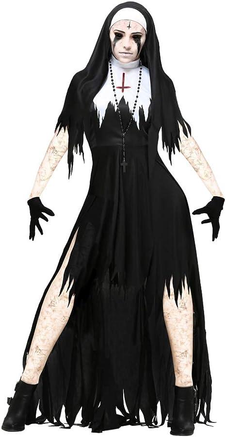 PRTQI Disfraces De Halloween De Horror Adulto Sangriento Cosplay ...