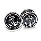 Pair of Vintage Anchor 316L Surgical Steel Screw Fit Plug - 7 Sizes Available - PSZ07 (18mm - 3/4 inch)