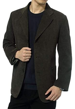 GenericMen Three Button Elbow Patch Sport Coat Casual