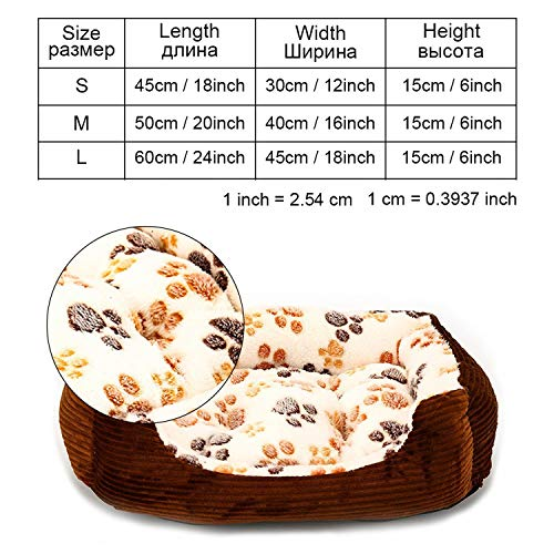 Pet Products Dog Beds Mats for Small Medium Large Dogs Puppy Cat Bed House Winter Dog Bed Sofa Kennels House Bench Dogs Blankets,Beige-Yx0002,M (Fl Sale Jacksonville Furniture For)