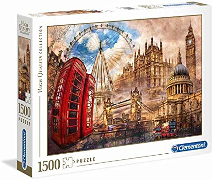 Clementoni 31807 Clementoni-31807 Collection-Vintage London-1500 Pieces