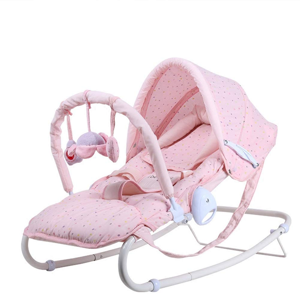 C-Qing Full Moon Gift Multi-Function Baby Rocking Chair Baby Rocking Chair Newborn Coax Sleeping Pillow Cradle Chair,Best Gifts,A by C-Qing