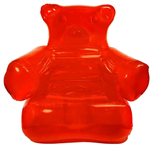 Inflatable Chair Gummy Bear – Includes Pump – Deliciously Bright Coloring – All Ages – Pool Friendly Candy Red
