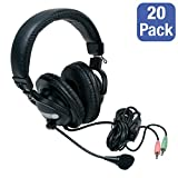 Save on Egghead Stereo Headphones with Headset Microphone, EGG-IAG-1001-SO-20 (Pack of 20) and more