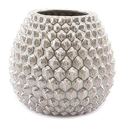 Amazon Zuo Pinecone Vase Short Antique Silver Home Kitchen