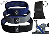 HIP RESISTANCE BANDS ~BOOTY BANDS to LIFT GLUTES, ROUND HIPS, SCULPT THIGHS- #1 Best HIP BAND~ Ideal Bands for Lunges, Pilates, Squat ~TOP QUALITY, Soft and Non-Slip Design Hip Fitness Bands- Set of 3 For Sale