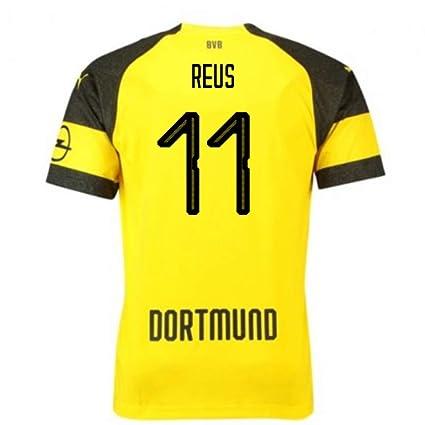 UKSoccershop 2018-2019 Borussia Dortmund Puma Home Football Shirt (Reus 11) - Kids