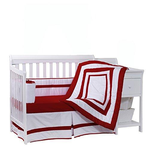 Baby Doll Bedding Modern Hotel Style Crib Bedding Set, Red by BabyDoll Bedding
