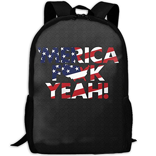 America Fuck Yeah Map Interest Print Custom Unique Casual Backpack School Bag Travel Daypack - Sunglasses Yeah