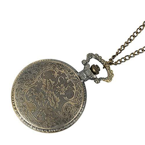 ZJZ Vintage fickur retro antik kedja karta halsband hänge vintage fickur vintage fickur vintage fickur