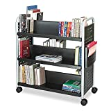 Storage and Organization Book Cart, Perfect for Use in Libraries, Schools, Work, Office or Home, Collections, Bookholder, Spacesaver, Steel, Design, Décor