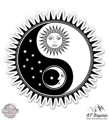Amazoncom Gt Graphics Yin Yang Sun Moon Vinyl Sticker Waterproof