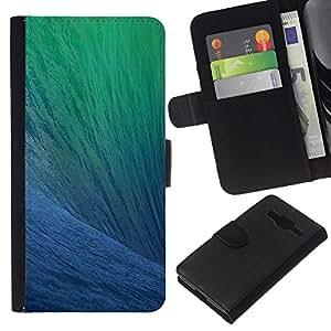 All Phone Most Case / Oferta Especial Cáscara Funda de cuero Monedero Cubierta de proteccion Caso / Wallet Case for Samsung Galaxy Core Prime // Ocean Surfing Wave Sun Summer Blue