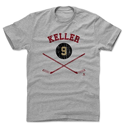 - 500 LEVEL Clayton Keller Cotton Shirt Medium Heather Gray - Arizona Coyotes Men's Apparel - Clayton Keller Arizona Sticks R