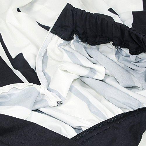 LULIKA Femmes Taille D'Lastique Piano ClS Imprim Jupe Haute Taille Jupe Mince Fantaisie Jupe Longue Maxi Plage Robe Blanc