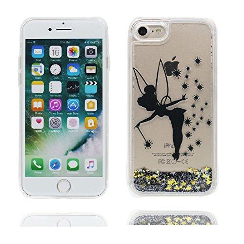 """iPhone 7 Plus Coque, iPhone 7 Plus étui Cover 5.5"""", Bling Bling Glitter (Petite fée) Fluide Liquide Sparkles Sables, iPhone 7 Plus Case, Shell anti- chocs"""
