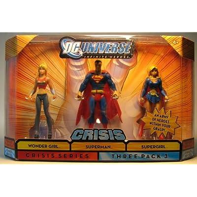 Mattel DC Universe Infinite Heroes 3 - Pack Wondergirl / Superman / Supergirl: Toys & Games