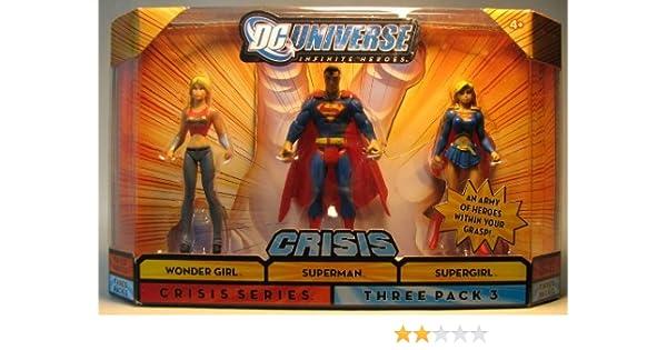 Mattel DC Universe Infinite Heroes 3 - Pack Wondergirl / Superman ...
