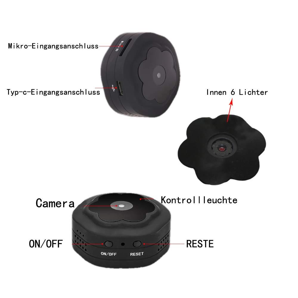 Mini /überwachungskamera WiFi versteckte Wireless Kamera WLAN HD 1080P spionkamera Sicherheit Lange Standby-Zeit Spionage-Kamera mit bewegungsmelder eingebaute magnetische Indoor-Outdoor-Aufnahme