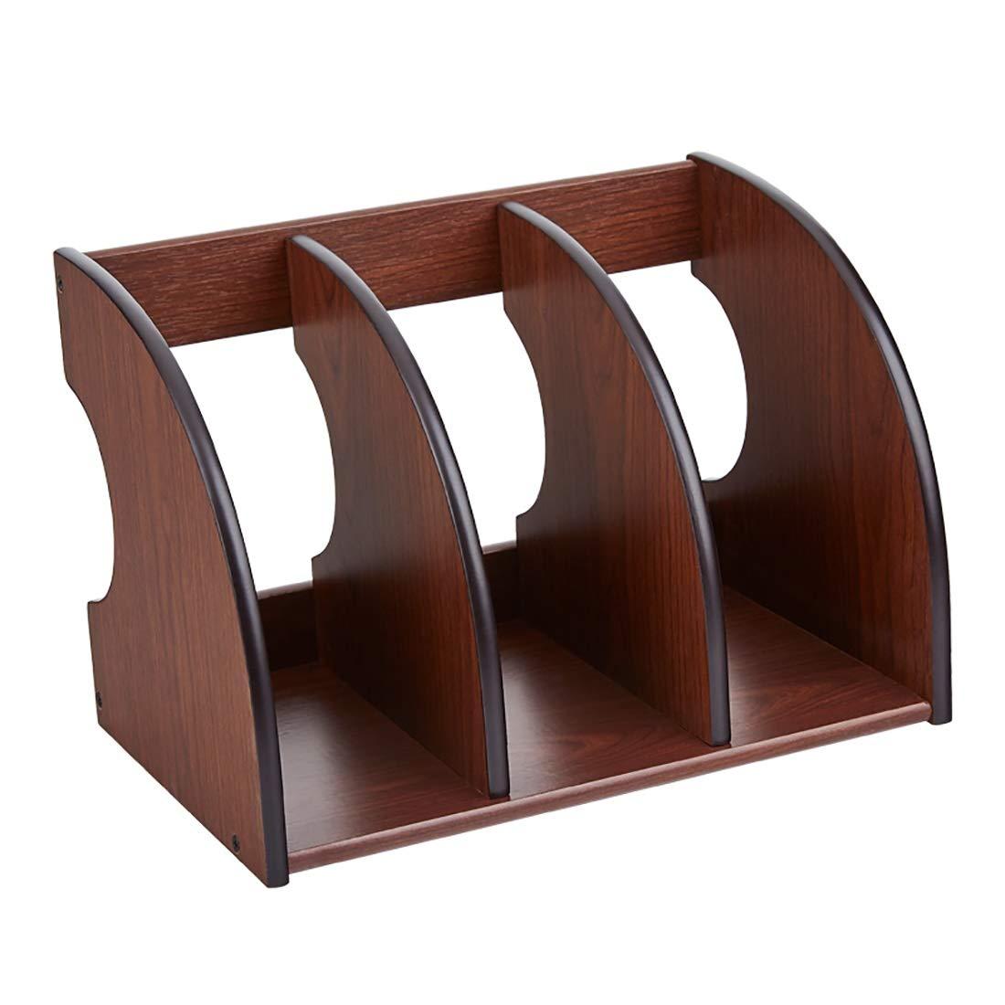YCYG File Shelf Wooden,File Shelf/File Holder - File Holder Racks, File Organizer, Desktop File Folder Paper Sorter, Multifunction File Holder, Solid Wooden by YCYG
